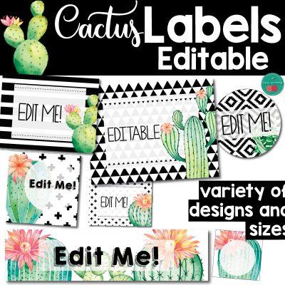 Cactus Editable Labels