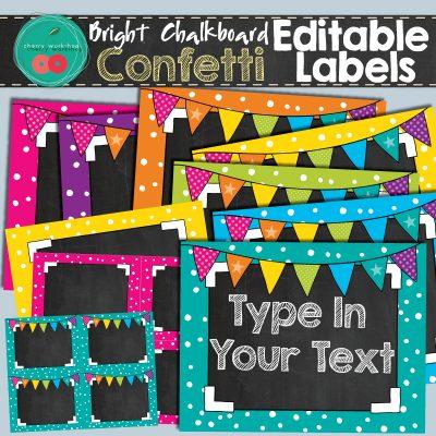 Chalkboard Editable Labels