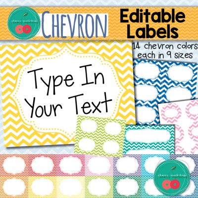 Chevron Editable Labels
