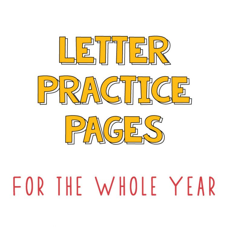Letter Pages for the whole year