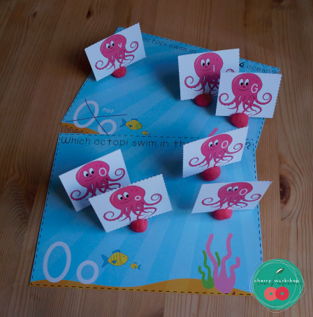 O is for Octopus. Super fun ABC sorting games for letter recognition