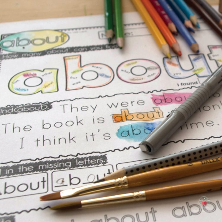 Sight Words Worksheets – some of the best ones around